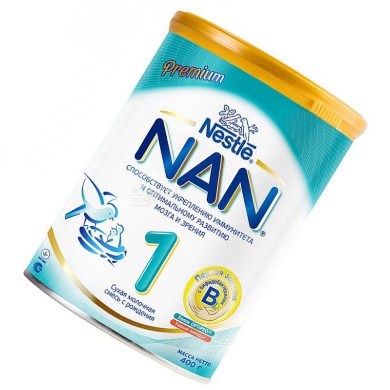 Nestle, 400 г, смесь молочная, Nan 1 с рождения