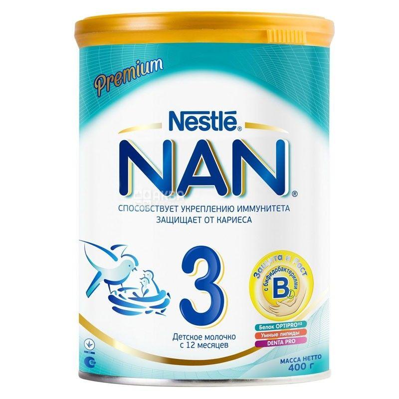 Nestle, 400 г, суміш молочна, Nan 3 з 12 місяців