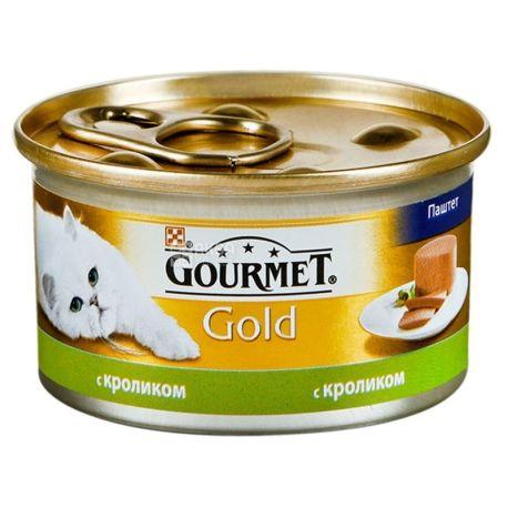 Gourmet, 85 г, корм, для котов,  c кроликом Gold