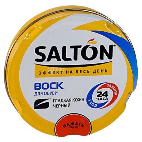 Salton, 75 мл, воск для обуви, Черный, ж/б
