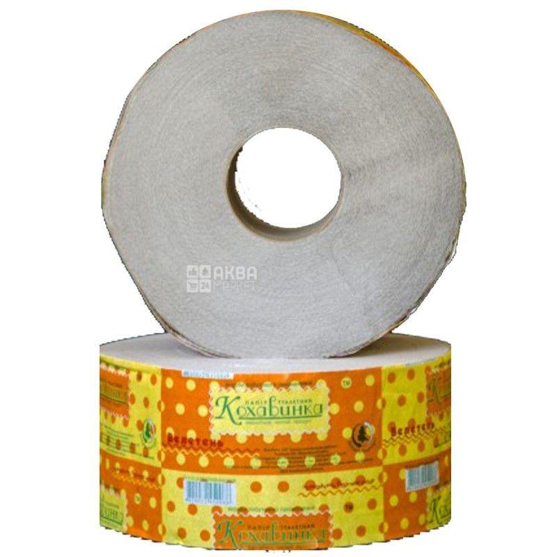 Кохавинка, 150 м, Туалетний папір, Джамбо, 1-шаровий