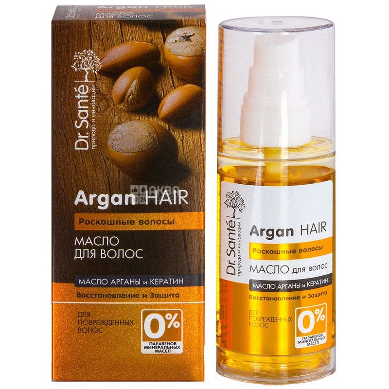 Dr. Sante, 50 мл, масло для волос, Argan Hair