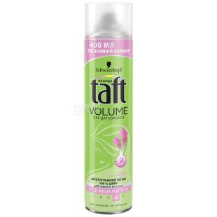 Taft, 400 мл, лак для волосся, сильна фіксація, Volume 4