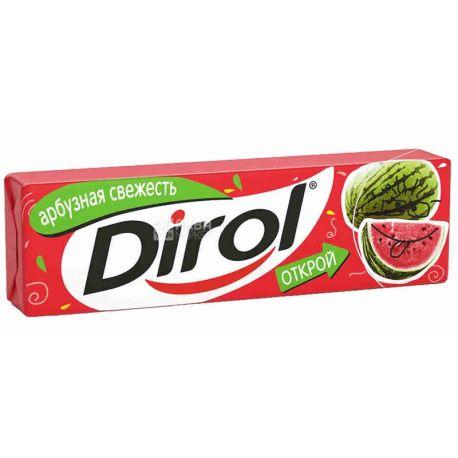 Dirol, 13,6 г, жевательная резинка, Арбузная свежесть