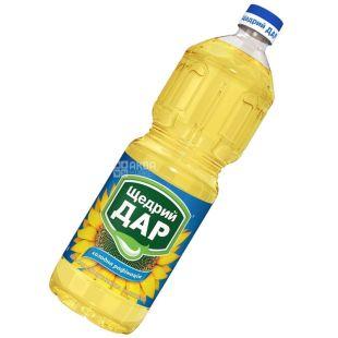 Щедрый Дар, 1 л, масло подсолнечное, холодная рафинация