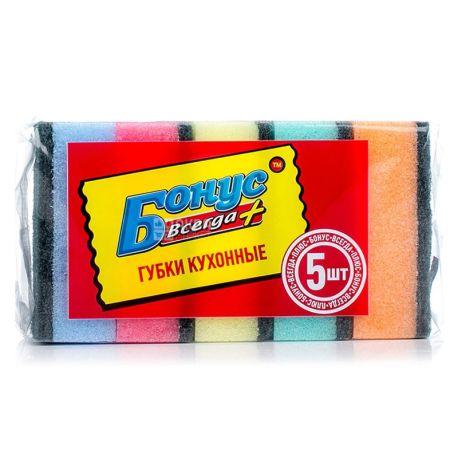 Bonus, 5 pcs., Kitchen sponge, m / s