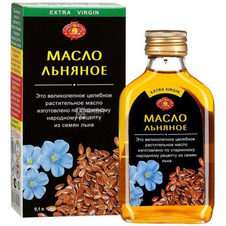 Golden Kings of Ukraine, 0,1 л, масло, льняное нерафинированное