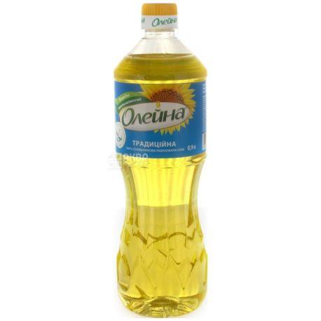 Олейна Традиционная, 0,9 л, подсолнечное масло, рафинированное