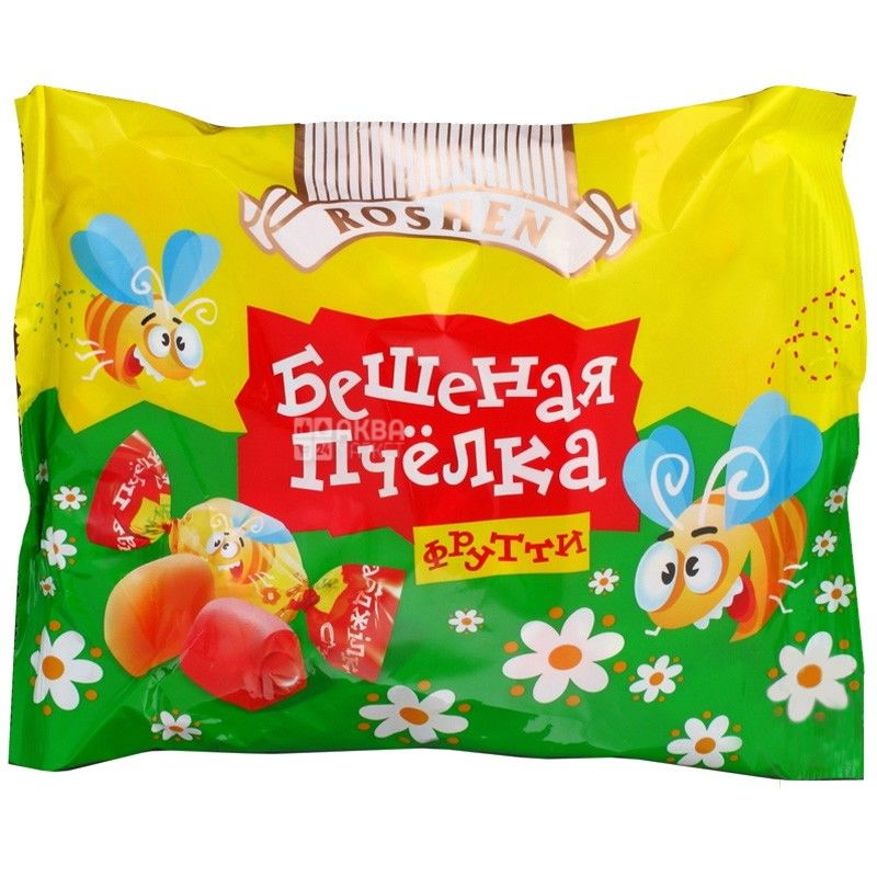 Roshen, 200 г, цукерки, Шалена бджілка Фрутті
