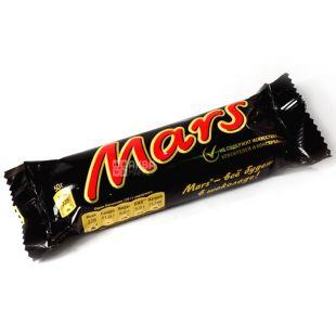 Mars, 51 г, Шоколадный батончик, Марс