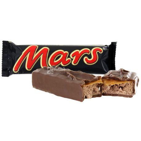 Mars, 51 г,  Шоколадний батончик, Марс