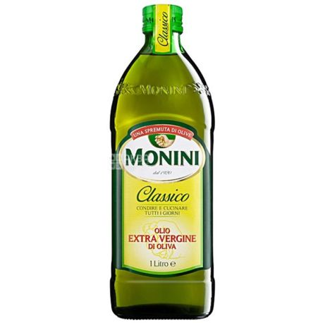 Monini, 1 л, Олія оливкова, Сlassico, Еxtra vergine, скло