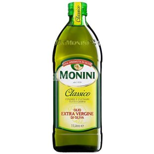 Monini, 1 l, Olive oil, Сlassico, Extra vergine, glass