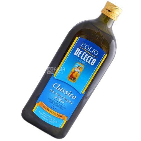De Cecco Сlassico, Еxtra vergine, 1 л, Олія оливкова, скло