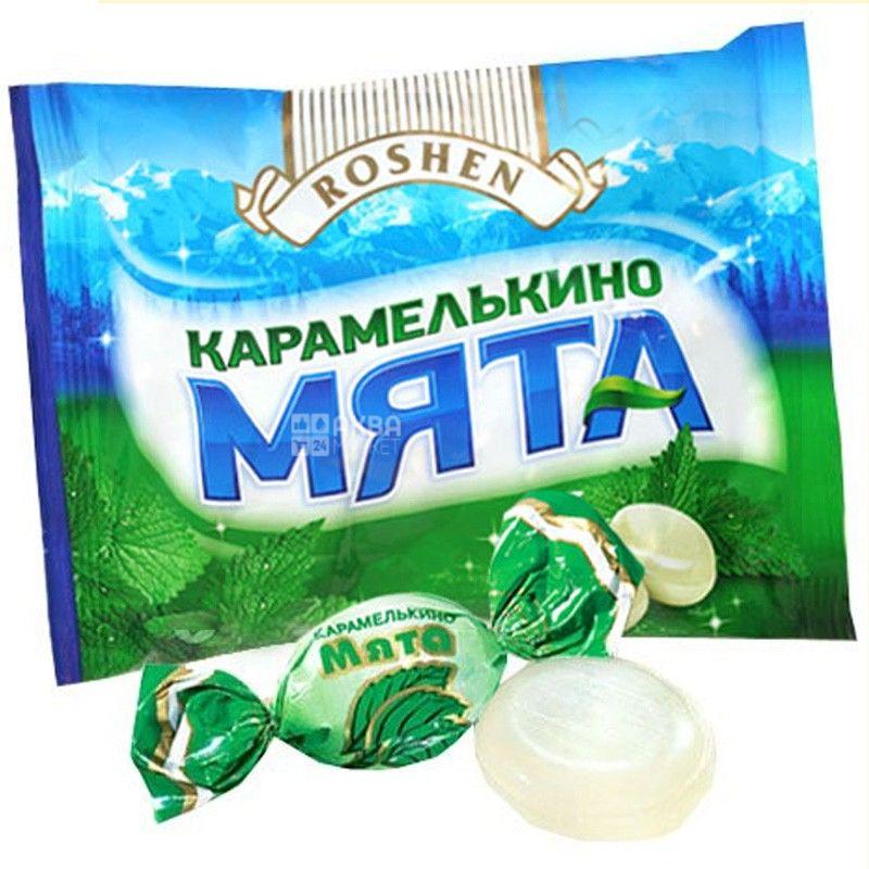 Roshen, 1 кг, карамель, Карамелькино  мята