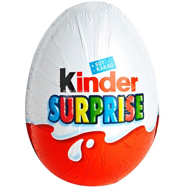 Kinder, 20 г, яйцо шоколадное, Сюрприз