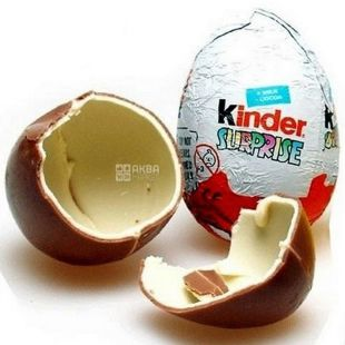 Kinder, 20 г, яйце шоколадне, Сюрприз