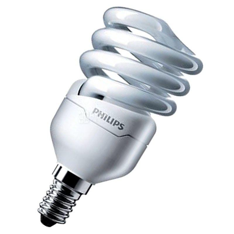 Philips, 12 Вт, лампа, Энергосберегающая, Тепло-белая спираль, м/у