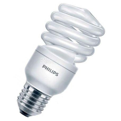 Philips, 15 Вт, лампа, Энергосберегающая, Тепло-белая спираль, м/у