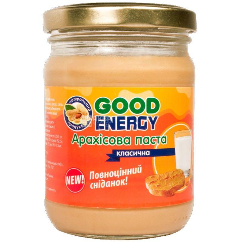 Good Energy, 250 г, арахисовая паста, классическая
