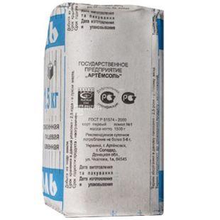 Артемсоль, Соль кухонная каменная поваренная, 1,5 кг