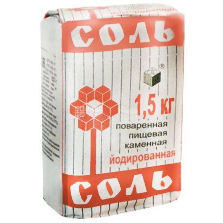 Артемсоль, Соль кухонная йодированная, 1,5 кг