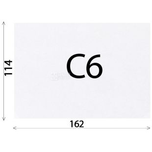 Envelope C6 (114х162 mm) white 100 pieces, with a tear-off tape