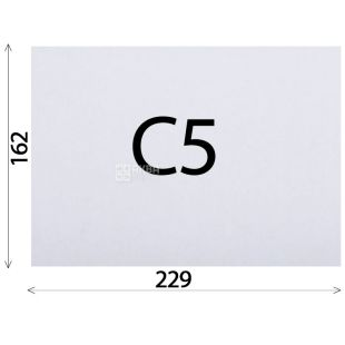 Envelope C5 (162х229 mm) white 100 pcs., With a tear-off tape