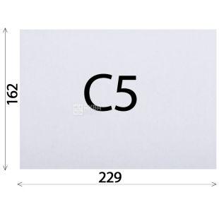 Конверт С5 (162х229 мм) белый 100 шт., с отрывной лентой