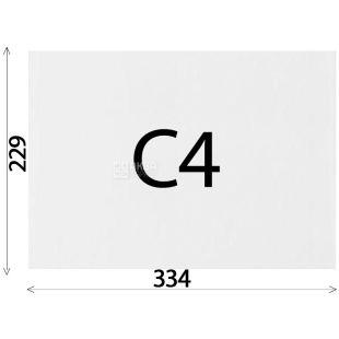 Конверт С4 (229х334 мм) білий 50 шт., з відривною стрічкою