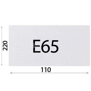 Конверт Е65 (110х220 мм) білий 100 шт., з відривною стрічкою