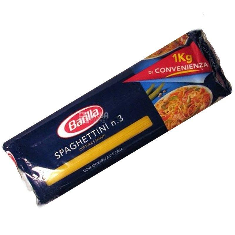 Barilla Spaghettini №3, 1 кг, Макароны Барилла Спагеттини