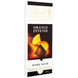 Lindt, 100 г, чорний шоколад, з апельсином, 47% какао, Excellence, Intense Orange