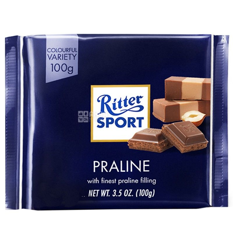 Ritter Sport, 100 г, молочный шоколад, Пралине