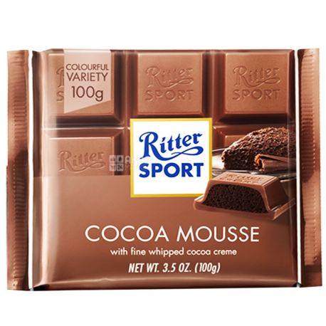 Ritter Sport, 100 г, молочний шоколад, Какао-мус