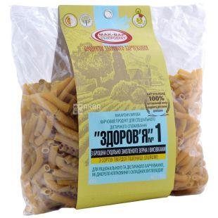 Мак-Вар, 0,4 кг, макароны пшеничные, Здоровье №1