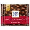 Ritter Sport, 100 г, черный шоколад, с цельными лесными орехами