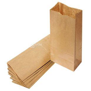 Промтус, 10 шт., 120x85x250 мм, бумажный пакет, Без ручек, Коричневый, м/у