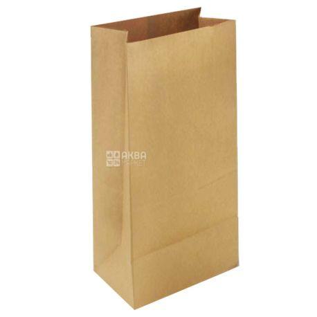 Промтус, 10 шт., 120x85x250 мм, паперовий пакет, Без ручок, Коричневий, м/у