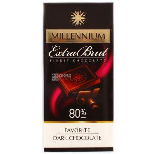 Millenium, 100 g, dark chocolate, 80% cocoa, Extra Brut