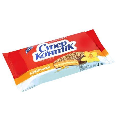 Супер-Контик, 100 г, печенье-сэндвич, Ванильный