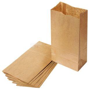 Промтус, 10 шт., 170x120x280 мм, паперовий пакет, Без ручок, Коричневий, м/у