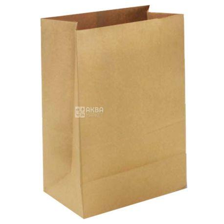 Промтус, 10 шт., Пакет бумажный, Без ручек, крафт, 210x115x280 мм