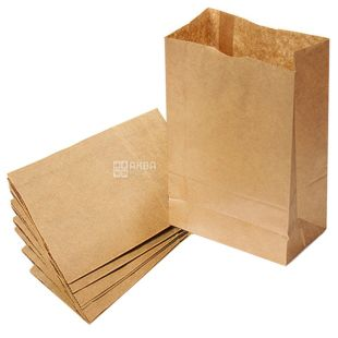 Promtus, 210x115x280 mm, 10 pcs., Paper package, without handles, brown, m / s