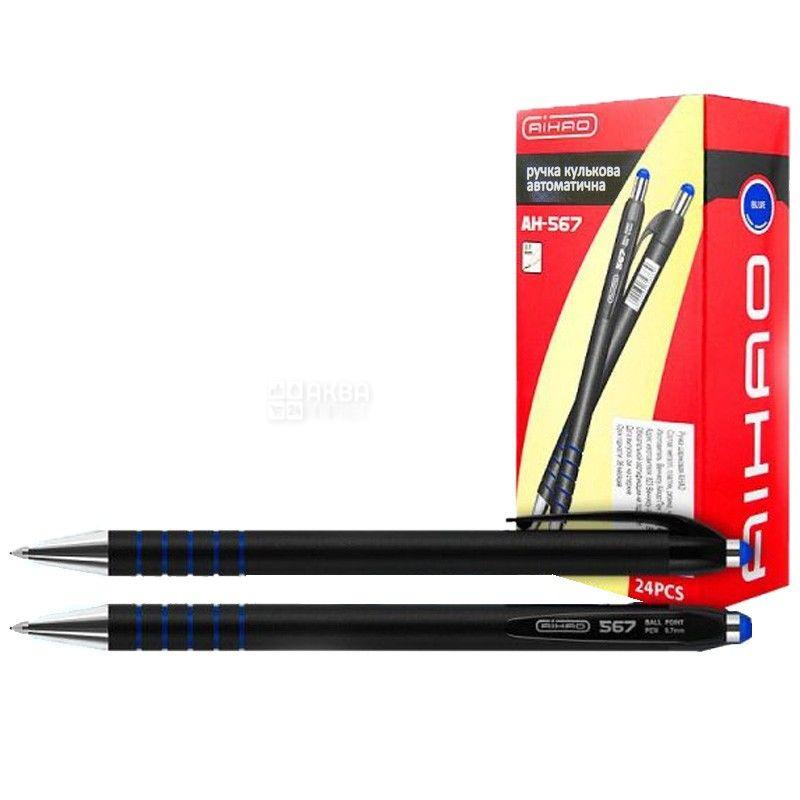 AIHAO, 24 шт., 1 мм, ручка шариковая, Автоматическая, Синяя, м/у