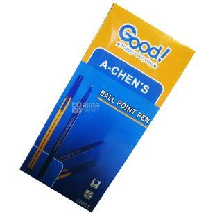 A-Chen's, 30 шт., 0,7 мм, ручка шариковая, Синяя, м/у