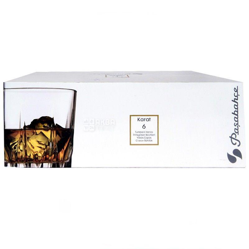 Pasabache, 6 шт., 302 мл, набір склянок, Karat, скло