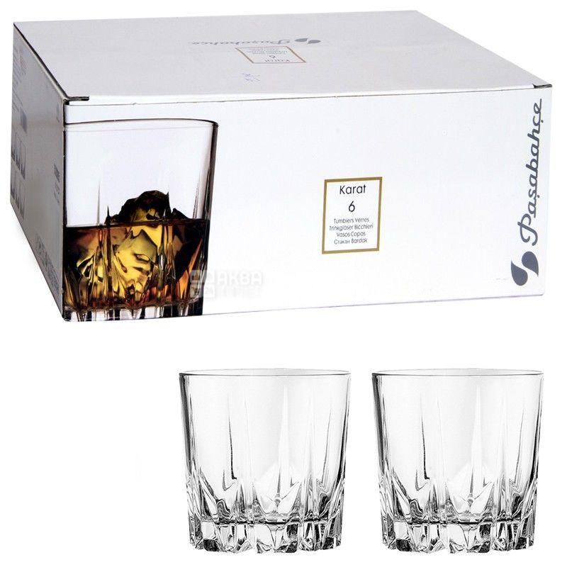 Pasabache, 6 шт., 302 мл, набор стаканов, Karat, стекло