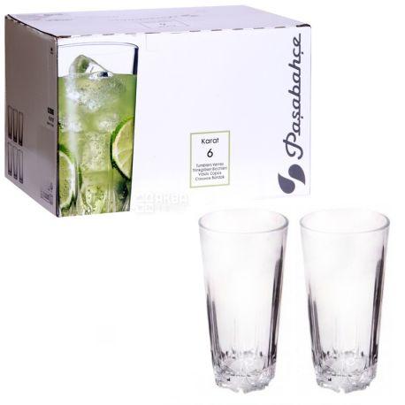 Pasabache, 6 шт., 330 мл, набір склянок, Karat, скло