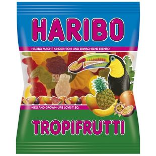 HARIBO, 100 г, жувальні цукерки, Тропічні фрукти